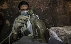 Tìm thấy hàng chục xác ướp mèo 6.000 năm tuổi ở Ai Cập
