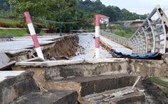 Công trình kè đê sông Mã trăm tỉ sụt lún nghiêm trọng