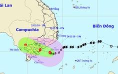 7h sáng mai 25-11 bão đổ bộ bờ biển Bình Thuận đến Bến Tre