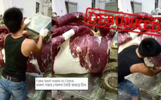 Thực hư video làm thịt bò giả của Trung Quốc đang được chia sẻ mạnh