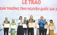 18 cá nhân, tập thể nhận giải thưởng tình nguyện quốc gia 2018
