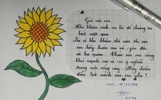 Hàng ngàn đóa hoa hướng dương trên mạng xã hội tặng bệnh nhi