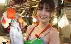 Dân mạng thích mê 'cô gái bán cá đẹp nhất' ở Đài Loan