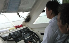 Sát hạch thuyền viên lái tàu trực tuyến, có camera giám sát