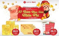 Lotte mart gửi trao khách hàng hàng ngàn món quà