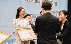 Hoa hậu Tường Linh nhận giải 'Nghệ sĩ vì cộng đồng' ở Hàn Quốc