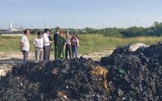 'Đem chất thải san lấp mặt bằng': Công an mời chủ đất lên làm việc