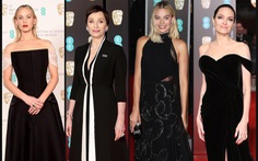 Sắc đen vì chiến dịch Time's Up bao trùm thảm đỏ BAFTA