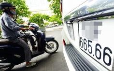 Trình Thủ tướng dự thảo Đề án 'cấp biển số xe ôtô thông qua đấu giá'