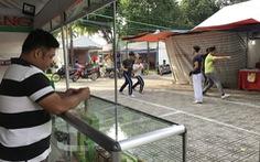 Hội chợ, công trình bủa vây công viên