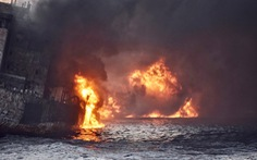 Tàu chở dầu Iran chìm ở biển Hoa Đông
