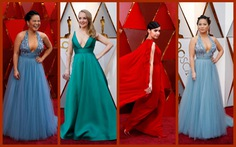 Oscar lần thứ 90 bắt đầu bằng thảm đỏ rực sắc màu
