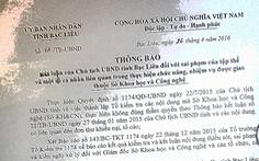 Bộ Nội vụ vào cuộc vụ giám đốc sở khiếu nại chủ tịch tỉnh Bạc Liêu