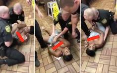 Vì cái nĩa nhựa, cảnh sát Mỹ vật phụ nữ da màu đến... tuột cả váy