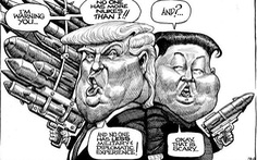 """Những """"quả đầu"""" ấn tượng của Tổng thống Mỹ trên tranh biếm họa"""