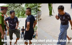 Video clip mặc váy ngắn, quần short bị mời khỏi Đền Hùng