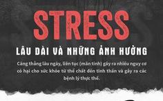 Stress lâu dài ảnh hưởng nặng nề thần kinh, tim mạch...