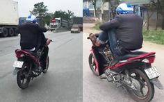 Phạt nam thanh niên lái xe máy bằng chân hơn 7 triệu