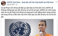 Quỹ dân số Liên Hiệp Quốc gỡ ảnh Phạm Anh Khoa khỏi fanpage
