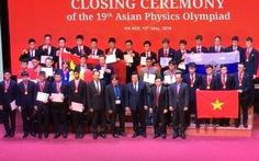 Việt Nam giành 4 HCV tại Olympic Vật lý châu Á năm 2018