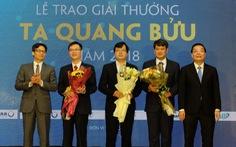 Vinh danh ba nhà khoa học đạt Giải thưởng Tạ Quang Bửu