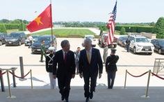 Bộ trưởng Mattis long trọng đón tiếp Đại sứ Việt Nam tại Lầu Năm Góc