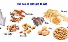 Tám thực phẩm dễ gây dị ứng nhất
