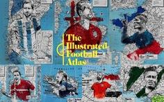 Tình yêu bóng đá và bản đồ độc lạ của fan ruột World Cup