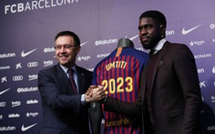 Barcelona giữ chân Umtiti bằng 500 triệu euro