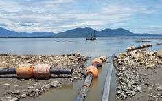 Tôm chết hàng loạt nghi do dự án hút bùn ở cảng Chân Mây