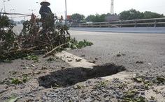 Kiểm tra, xử lý hố sụt trên cầu Tân Phong