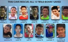 Thế giới reo vui với kỳ tích giải cứu các cầu thủ nhí ở Tham Luang