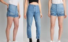 Bối rối với mốt quần jeans lộn ngược