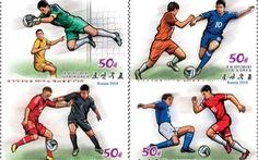 Triều Tiên phát hành bộ tem World Cup 2018 giá 2 tô phở 1 con tem