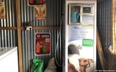 Lạ kỳ 'ATM bán sữa' ở châu Phi