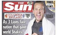 Báo Anh hứng 'gạch đá' vì trang bìa bêu xấu Colombia tại World Cup