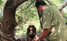 Đưa khỉ mặt đỏ quý hiếm về trung tâm cứu hộ nuôi dưỡng