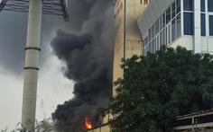 Cháy nhà máy sản xuất thức ăn chăn nuôi tại Hải Dương