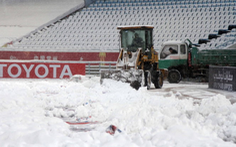 Tuyết ngừng rơi, nơi U23 Việt Nam thi đấu chung kết ấm dần