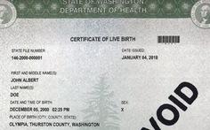 Washington cho phép giấy khai sinh ghi giới tính thứ 3