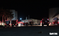 Cháy hai xe bồn ethanol ở nhà máy cồn