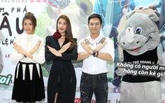 Phan Anh, Phạm Hương, Lệ Hằng chiếu phim bảo vệ voi, tê giác