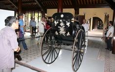 Cổ vật hồi hương: Xe kéo hoàng cung về kinh thành Huế