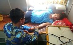 Thai phụ 8 tháng ở đảo Thổ Châu vào Phú Quốc cấp cứu