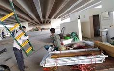 Lấn chiếm gầm cầu đường cao tốc  Hà Nội - Hải Phòng