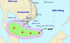 Áp thấp mạnh thành bão số 1, cách đất liền Nam Bộ 500km