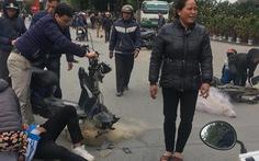 CSGT Thanh Hóa phủ nhận quăng lưới vào xe máy điện học sinh