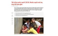 'Sẻ chia nước sạch': Món quà xuân thiết thực, nhân ái
