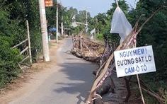 'Hà bá' ngoạm đường giao thông liên xã Vĩnh Trường