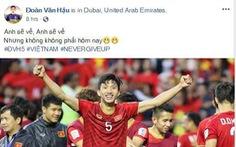 Cầu thủ Việt Nam trải lòng trên Facebook sau chiến thắng trước Jordan